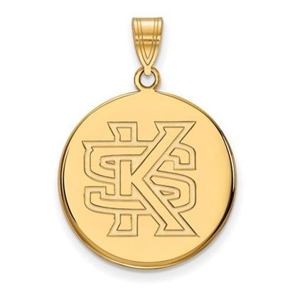 Picture of Kennesaw State University Owls Sterling Silver Gold Plated Large Disc Pendant