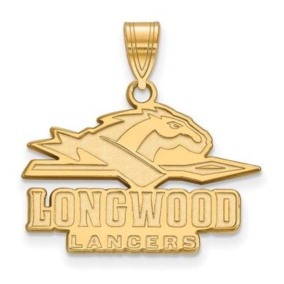 Picture of Longwood University Lancers Sterling Silver Gold Plated Medium Pendant