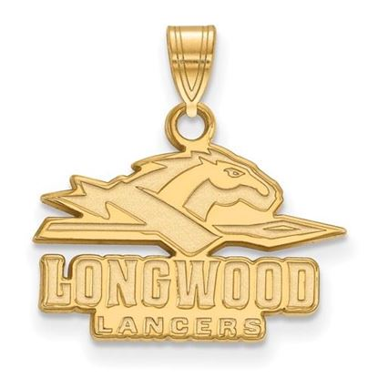 Picture of Longwood University Lancers Sterling Silver Gold Plated Small Pendant