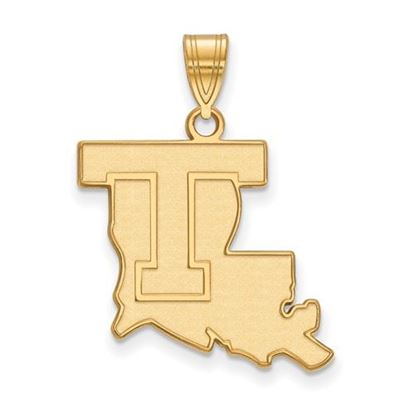 Picture of Louisiana Tech University Bulldogs Sterling Silver Gold Plated Large Pendant