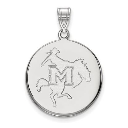 Picture of McNeese State University Cowboys 10k White Gold Large Disc Pendant