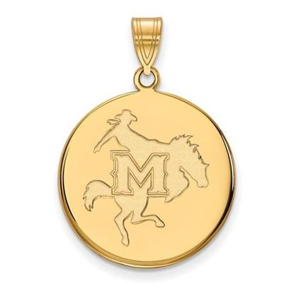 Picture of McNeese State University Cowboys 14k Yellow Gold Large Disc Pendant