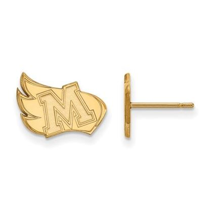 Picture of Meredith College Avenging Angels Sterling Silver Gold Plated Small Post Earrings