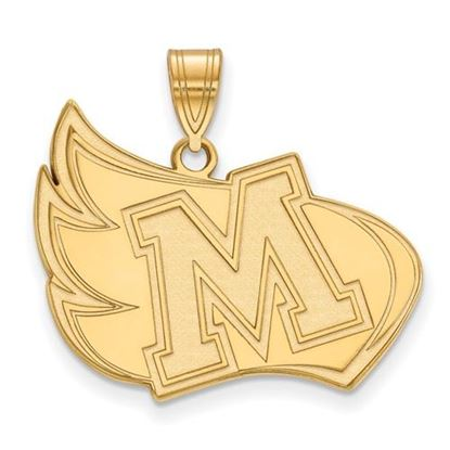 Picture of Meredith College Avenging Angels 14k Yellow Gold Extra Large Pendant