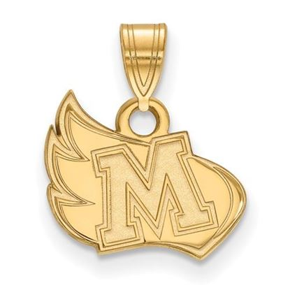 Picture of Meredith College Avenging Angels 14k Yellow Gold Small Pendant