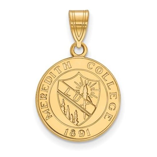 Picture of Meredith College Avenging Angels Sterling Silver Gold Plated Medium Crest Pendant