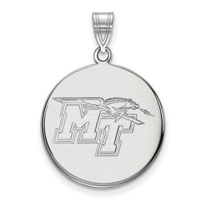 Picture of Middle Tennessee State University Blue Raiders 14k White Gold Large Disc Pendant