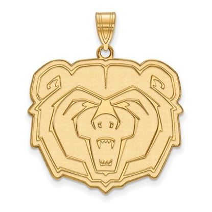 Picture of Missouri State University Bears Sterling Silver Gold Plated Extra Large Pendant
