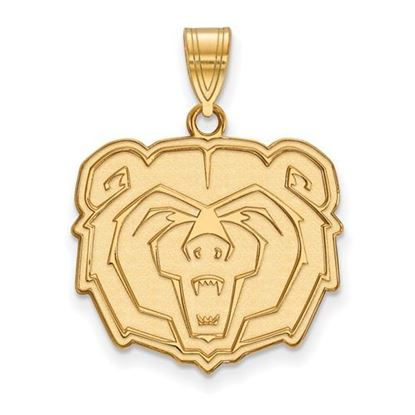 Picture of Missouri State University Bears Sterling Silver Gold Plated Large Pendant