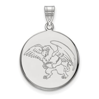 Picture of Missouri Western State University Griffons 10k White Gold Large Disc Pendant