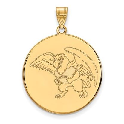 Picture of Missouri Western State University Griffons 10k Yellow Gold Extra Large Disc Pendant
