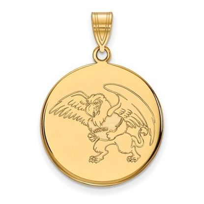 Picture of Missouri Western State University Griffons 10k Yellow Gold Large Disc Pendant