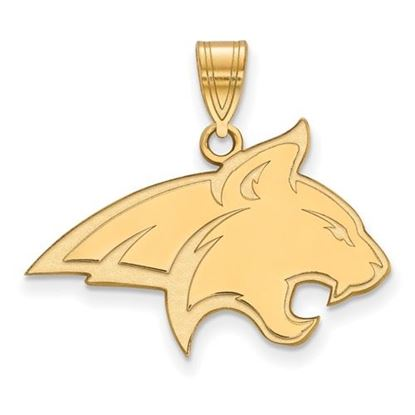 Picture of Montana State University Bobcats Sterling Silver Gold Plated Large Pendant