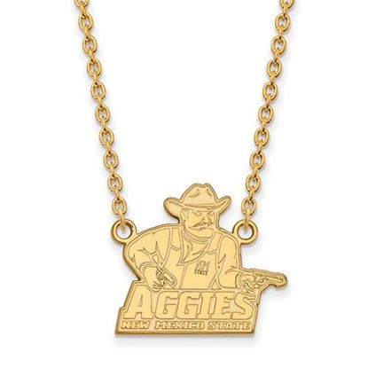 Picture of New Mexico State University Aggies 14k Yellow Gold Large Necklace