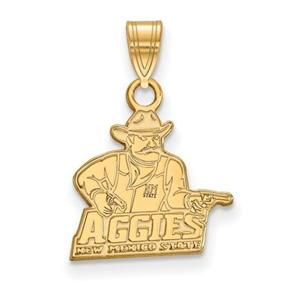 Picture of New Mexico State University Aggies Sterling Silver Gold Plated Small Pendant