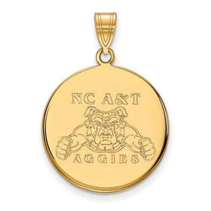 Picture of North Carolina A&T State University Aggies 10k Yellow Gold Large Disc Pendant
