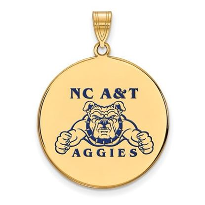 Picture of North Carolina A&T State University Aggies Sterling Silver Gold Plated Extra Large Enameled Disc Pendant