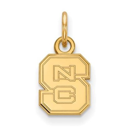 Picture of North Carolina State University Woldpack Sterling Silver Gold Plated Extra Small Pendant