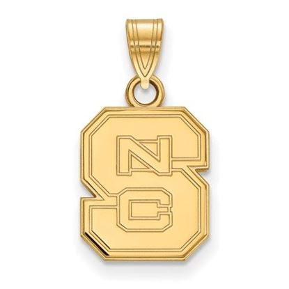 Picture of North Carolina State University Woldpack Sterling Silver Gold Plated Small Pendant