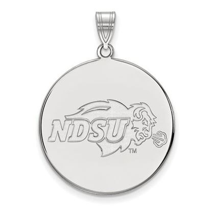 Picture of North Dakota State University Bison 10k White Gold Extra Large Disc Pendant