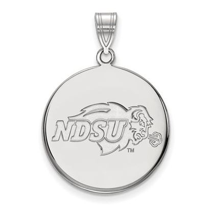 Picture of North Dakota State University Bison 10k White Gold Large Disc Pendant