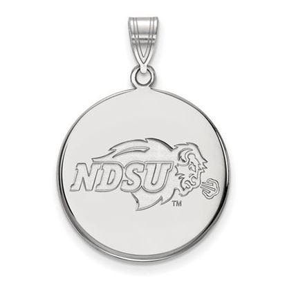 Picture of North Dakota State University Bison 14k White Gold Large Disc Pendant