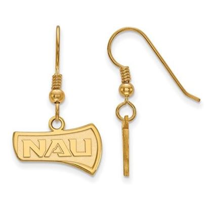 Picture of Northern Arizona University Lumberjacks Sterling Silver Gold Plated Small Dangle Earrings