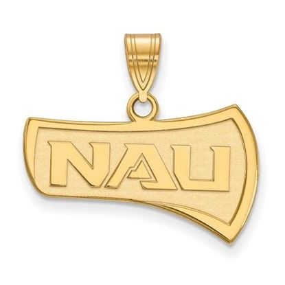 Picture of Northern Arizona University Lumberjacks Sterling Silver Gold Plated Large Pendant