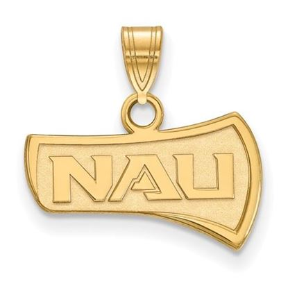 Picture of Northern Arizona University Lumberjacks Sterling Silver Gold Plated Small Pendant