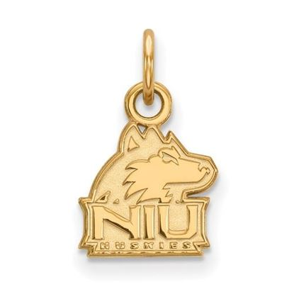 Picture of Northern Illinois University Huskies Sterling Silver Gold Plated Extra Small Pendant