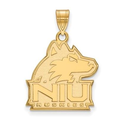Picture of Northern Illinois University Huskies Sterling Silver Gold Plated Large Pendant