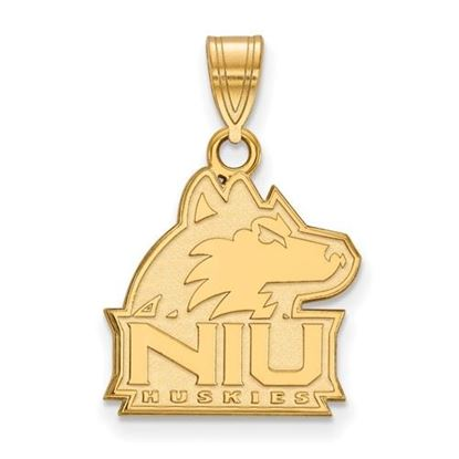 Picture of Northern Illinois University Huskies Sterling Silver Gold Plated Medium Pendant