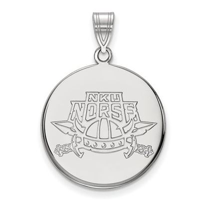 Picture of Northern Kentucky University Norse 14k White Gold Large Disc Pendant