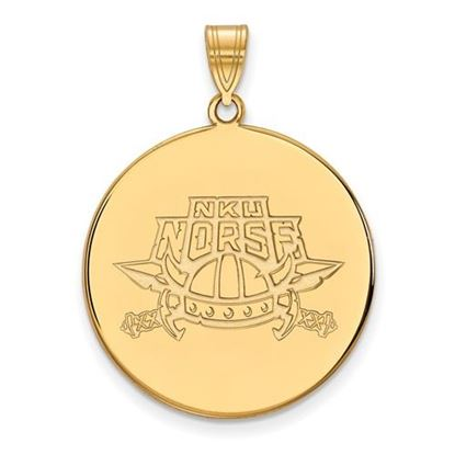 Picture of Northern Kentucky University Norse Sterling Silver Gold Plated Extra Large Disc Pendant