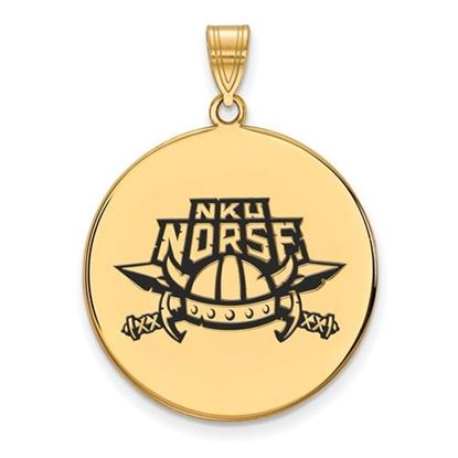 Picture of Northern Kentucky University Norse Sterling Silver Gold Plated Extra Large Enameled Disc Pendant
