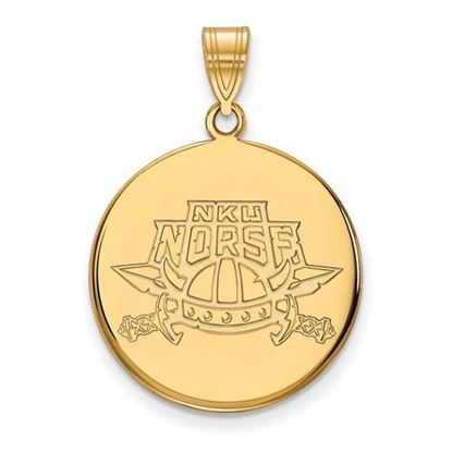 Picture of Northern Kentucky University Norse Sterling Silver Gold Plated Large Disc Pendant