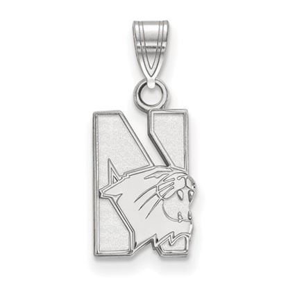 Picture of Northwestern University Wildcats 10k White Gold Small Pendant