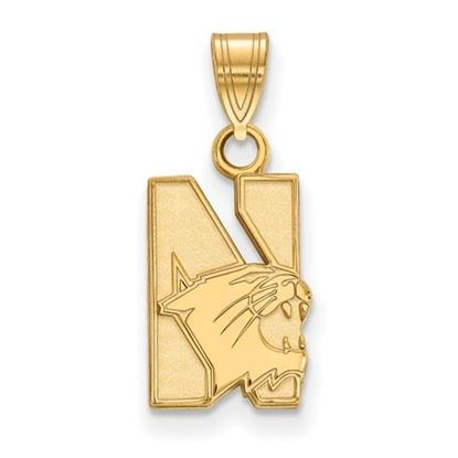 Picture of Northwestern University Wildcats Sterling Silver Gold Plated Small Pendant