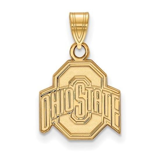 Picture of Ohio State University Buckeyes Sterling Silver Gold Plated Small Pendant