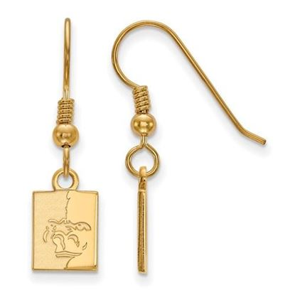 Picture of Pittsburgh State University Gorillas Sterling Silver Gold Plated Extra Small Dangle Earrings