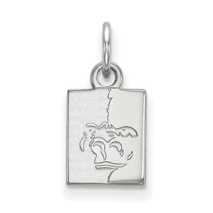 Picture of Pittsburgh State University Gorillas 10k White Gold Extra Small Pendant