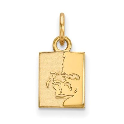 Picture of Pittsburgh State University Gorillas Sterling Silver Gold Plated Extra Small Pendant