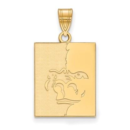 Picture of Pittsburgh State University Gorillas Sterling Silver Gold Plated Large Pendant