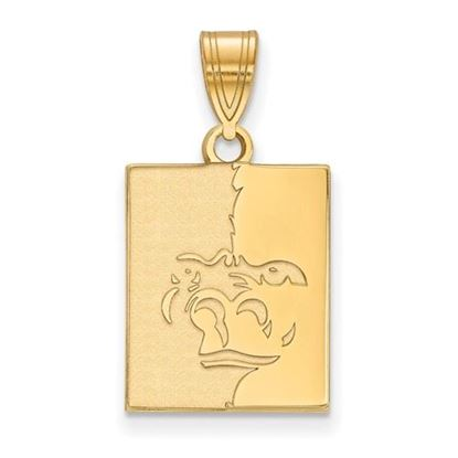 Picture of Pittsburgh State University Gorillas Sterling Silver Gold Plated Medium Pendant