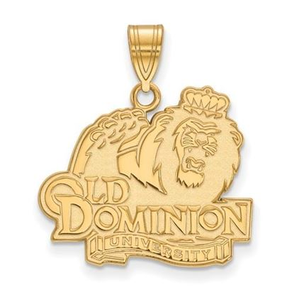 Picture of Old Dominion University Monarchs Sterling Silver Gold Plated Large Pendant