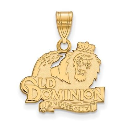 Picture of Old Dominion University Monarchs Sterling Silver Gold Plated Medium Pendant