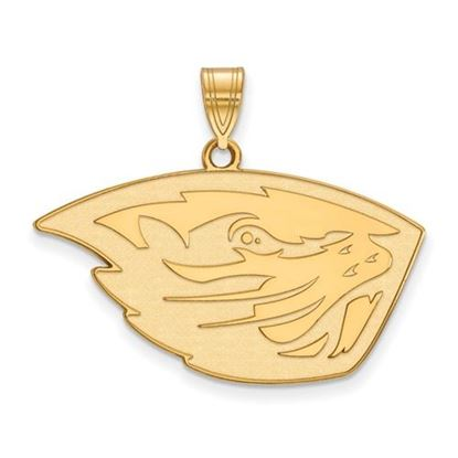 Picture of Oregon State University Beavers Sterling Silver Gold Plated Large Pendant