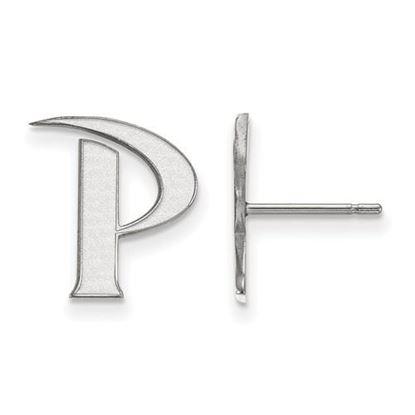 Picture of Pepperdine University Waves 10k White Gold Small Post Earrings