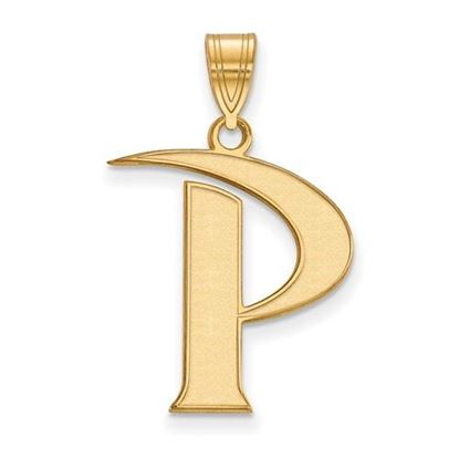 Picture of Pepperdine University Waves Sterling Silver Gold Plated Large Pendant