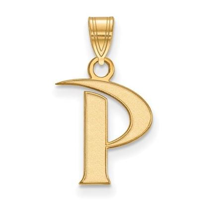 Picture of Pepperdine University Waves Sterling Silver Gold Plated Small Pendant
